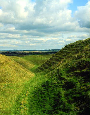 Maiden Castle Hill Fort [click for larger image]